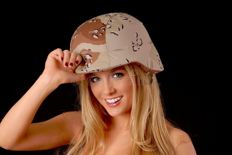 Download Lovely Blond Army Girl Royalty Free Stock Photo - Image: 4944755