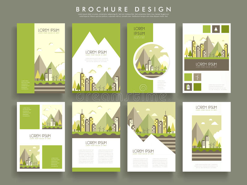 Lovely brochure template stock illustration