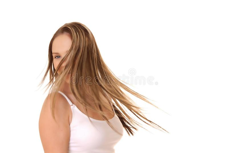 Lovely Brunette Girl stock image