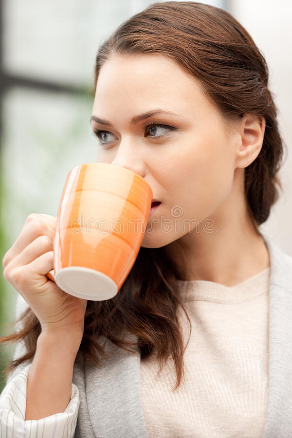 Download Lovely Businesswoman With Mug Stock Photo - Image: 21204678