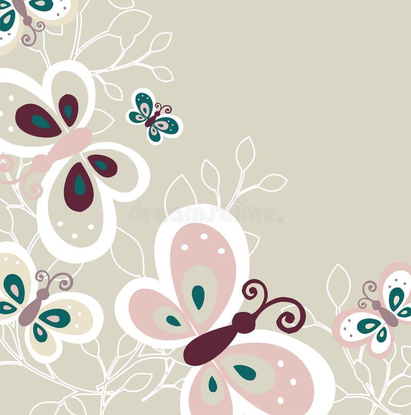 Lovely Butterfly Pattern Design. Vector illustration with Lovely Butterfly Pattern Design stock illustration