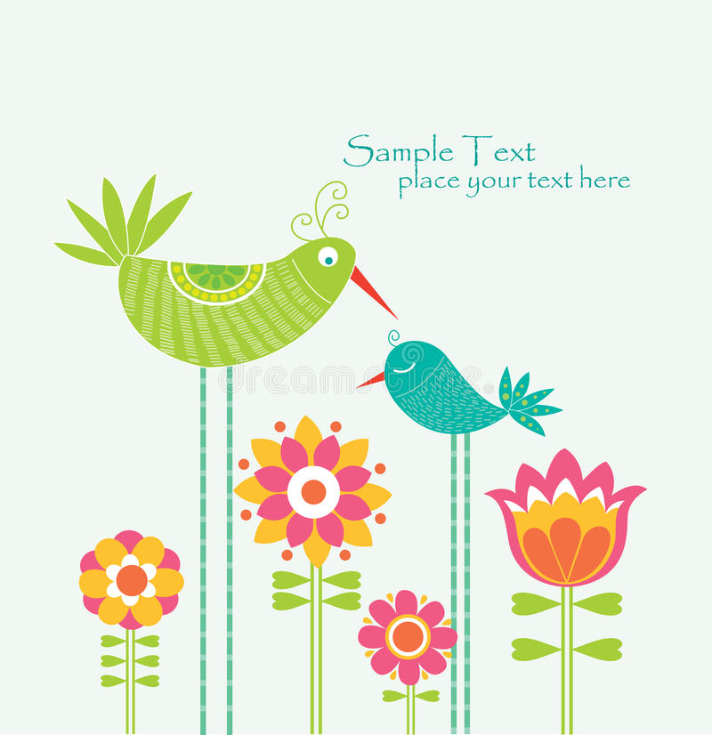 Lovely card royalty free illustration