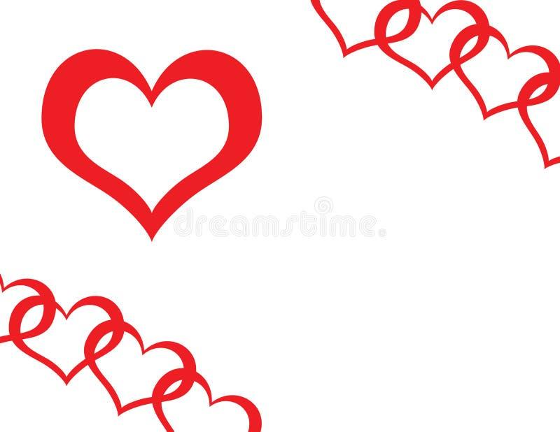 Download Lovely Chain PhotoFrame stock illustration. Illustration of valentino - 3958380