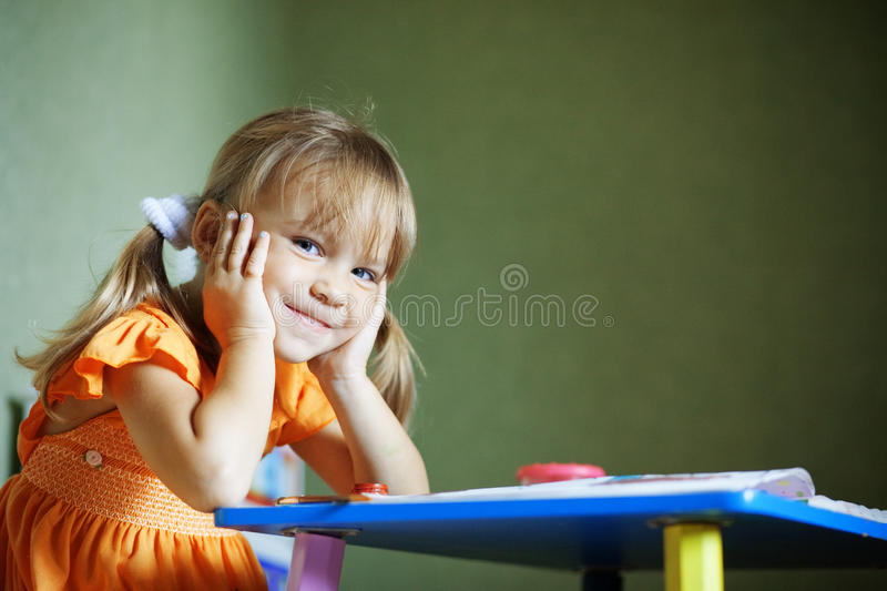 Lovely child royalty free stock photo