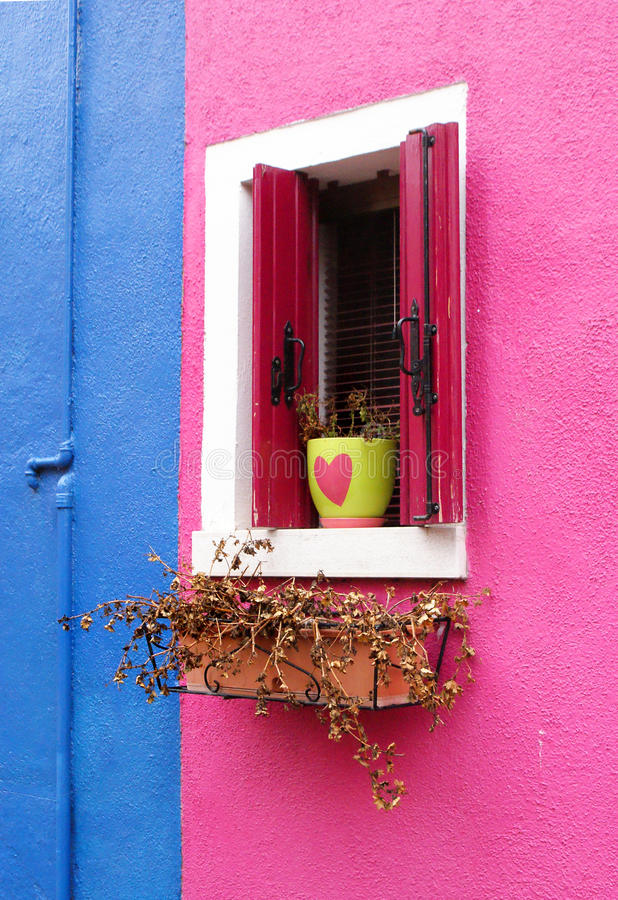 Lovely colourful window stock photo