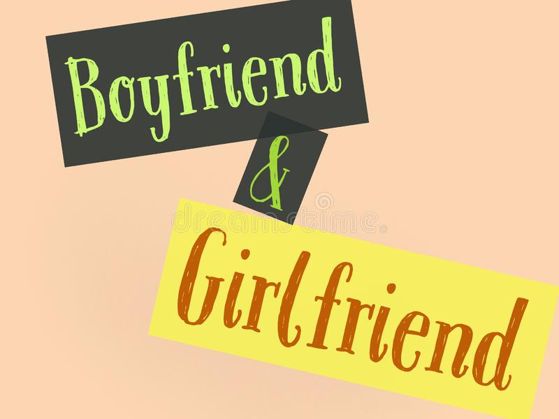Lovely couple background wallpaper girlfriend and boyfriend in color ful text and background. Lovely couple background wallpaper girlfriend boyfriend color ful royalty free illustration