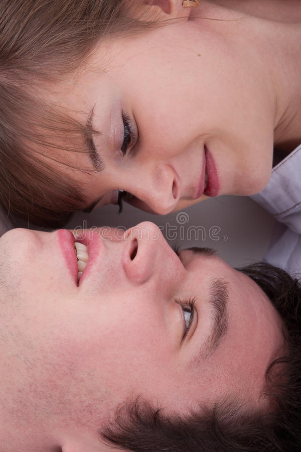 Download Lovely Couple Looking Each Other Stock Photo - Image of caucasian, other: 17402378
