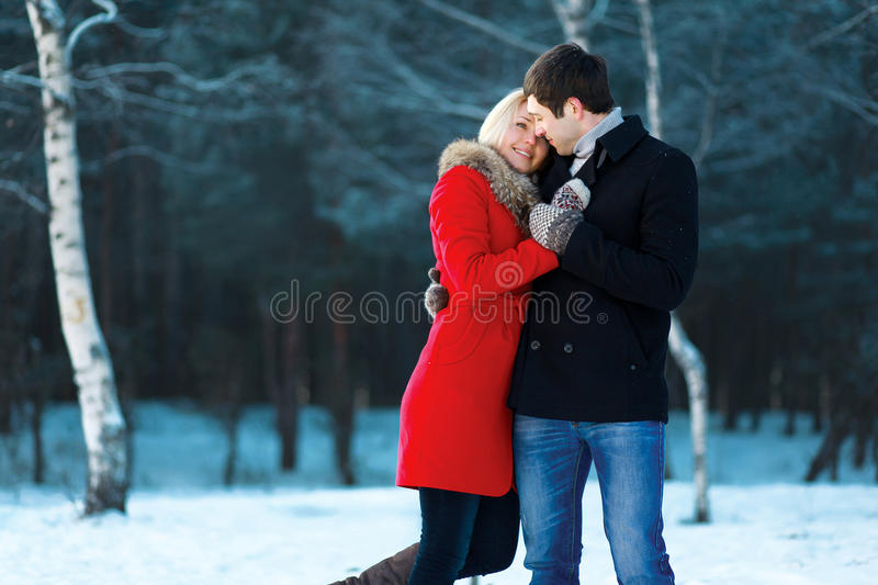 Lovely couple in love, tenderness stock photos