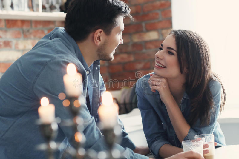 Lovely couple. Relationship and love. Lovely couple together royalty free stock image
