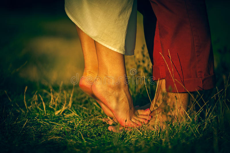 Lovely Couple. At summer landscape royalty free stock photos