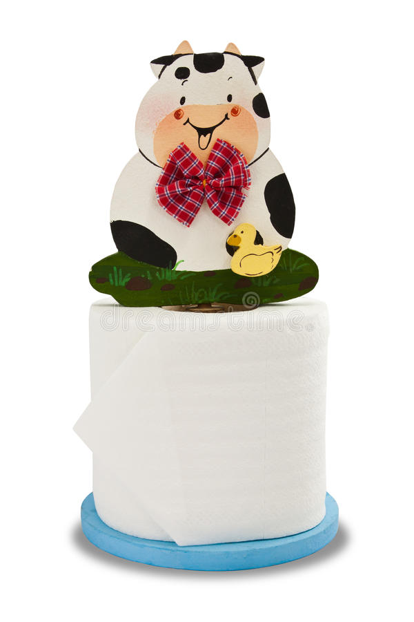 Download Lovely Cow With Toilet Paper Stock Photo - Image of sewer, bottom: 39512850