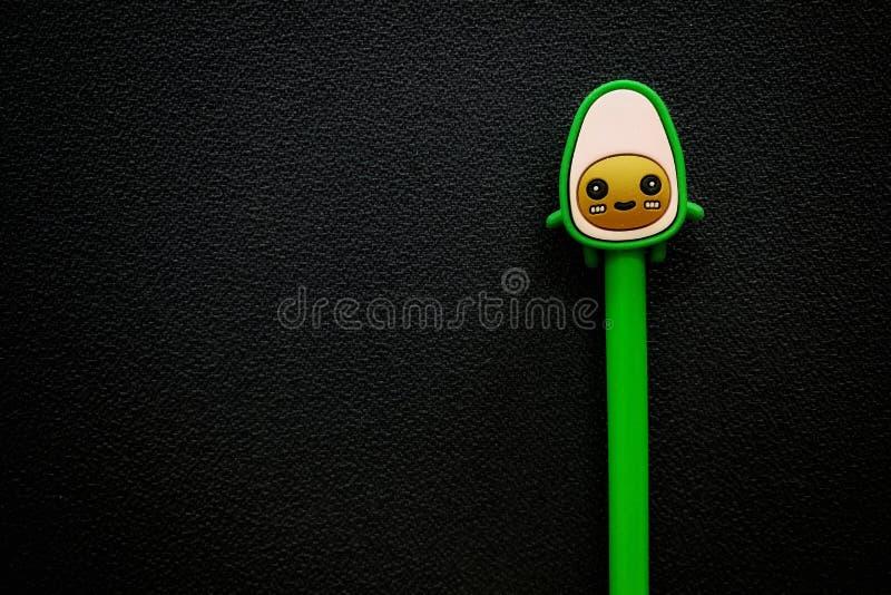 Lovely cute cartoon cat image pen design at Bangkok Thailand stock image