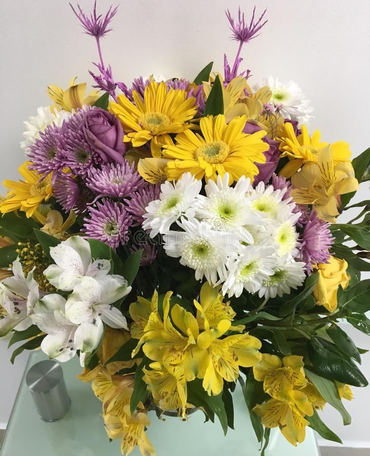 Lovely decorated mix flower bouquet stock photography