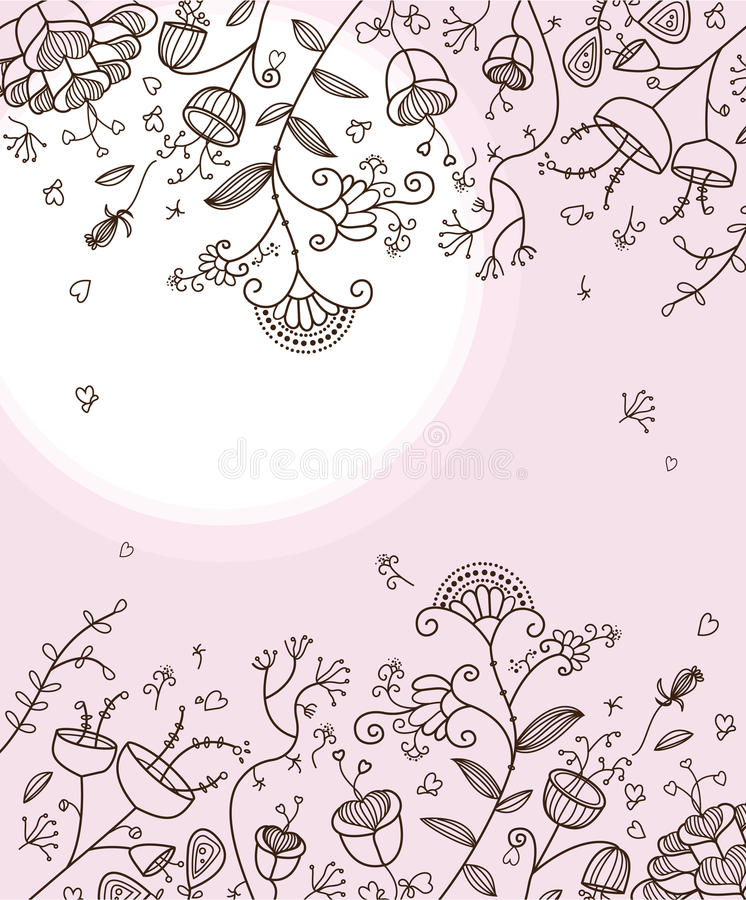 Download Lovely Doodle Flowers Royalty Free Stock Images - Image: 13982099