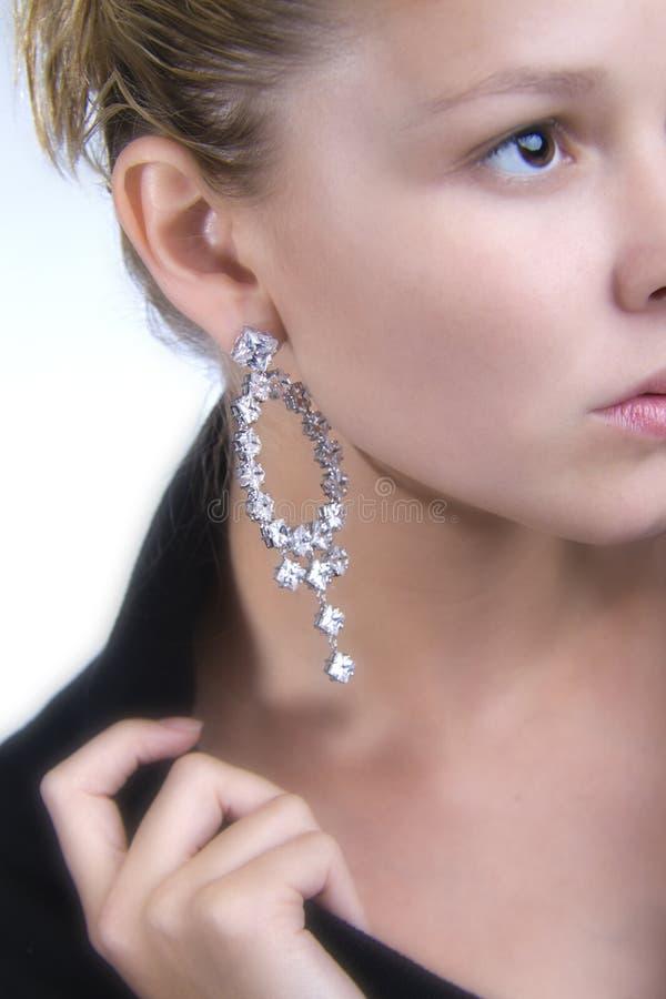 Lovely earring royalty free stock image