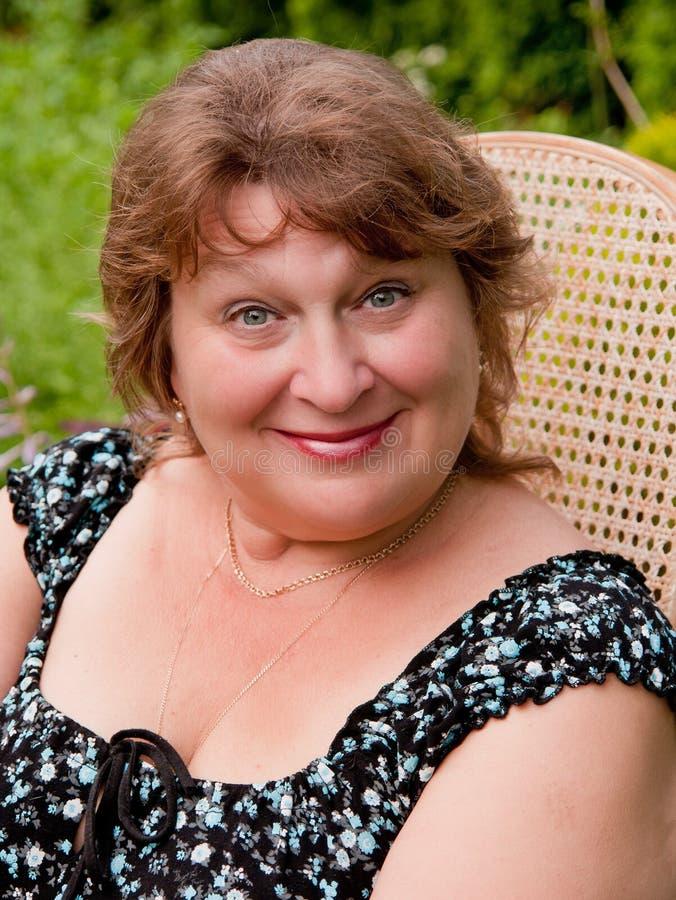 Lovely elder woman stock image