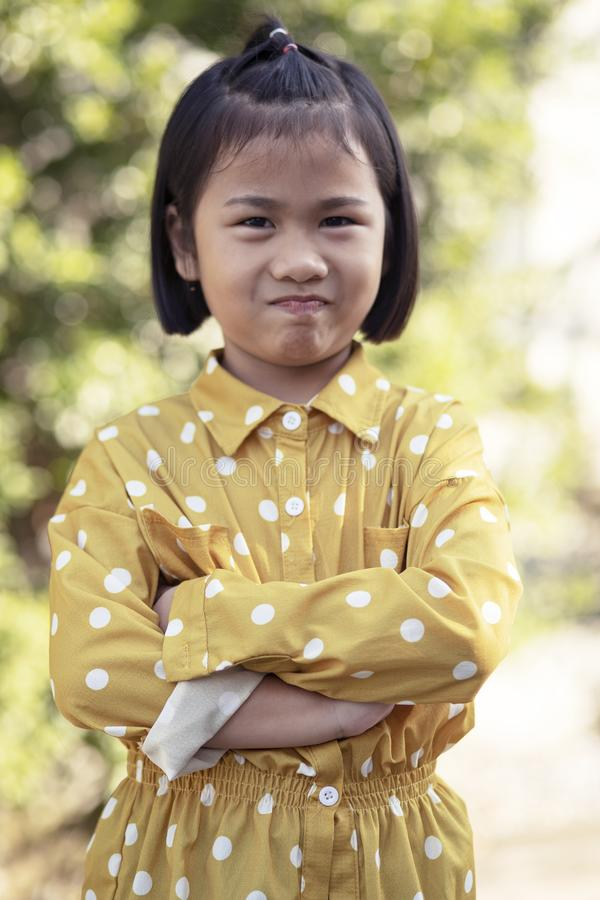 Lovely face of asian children kidding face happiness emotion stock photography