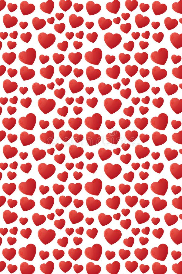 Lovely falling hearts seamless pattern design stock photography