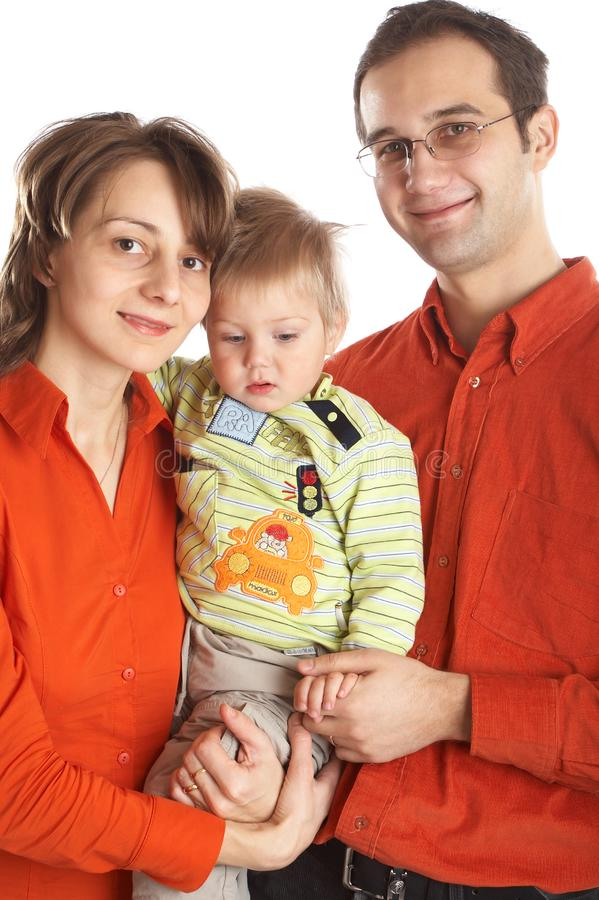 Lovely Family with baby royalty free stock photography