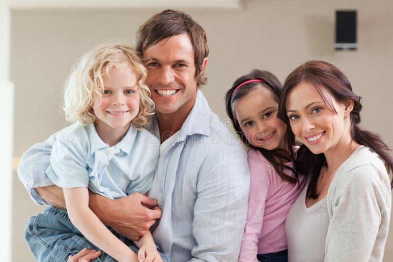 Lovely family posing stock image