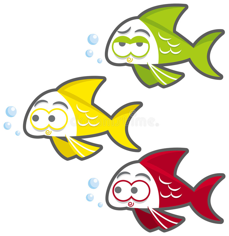 Download Lovely fish stock vector. Image of happy, cartoon, comic - 6968687