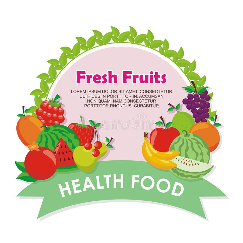 Lovely Fresh fruits Icon vector design. With simple, cute, and adorable illustration and design, suitable for banner, flyer, background, and other stock illustration