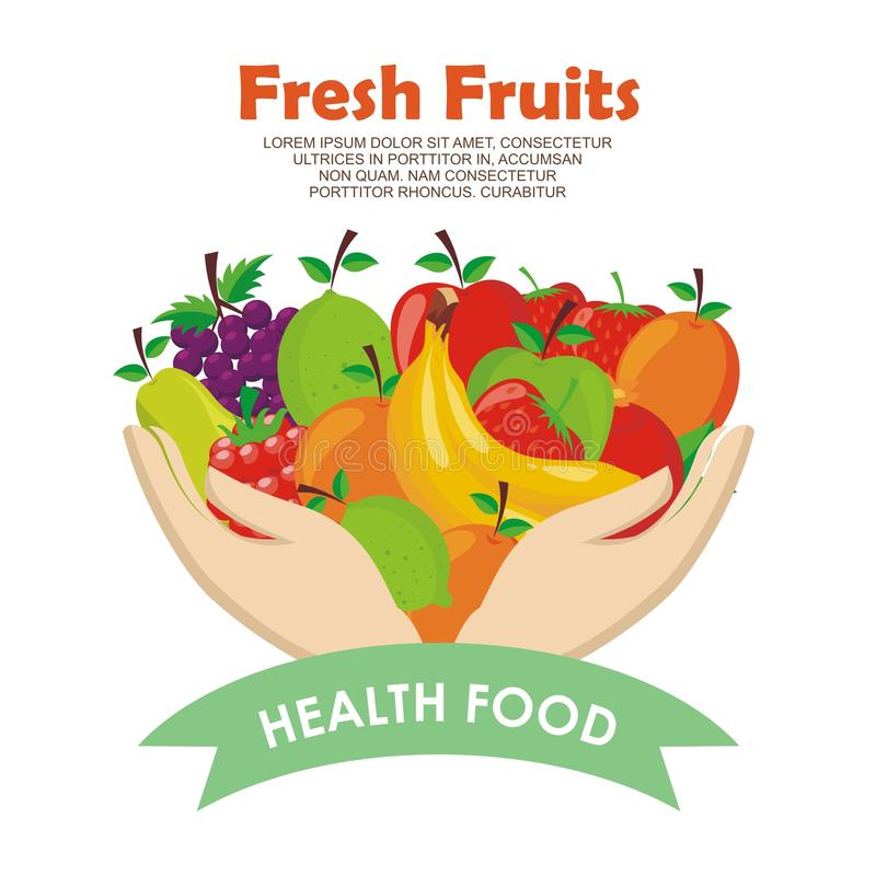 Lovely Fresh fruits Icon vector design. With simple, cute, and adorable illustration and design, suitable for banner, flyer, background, and other vector illustration