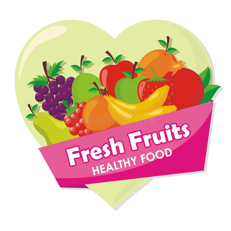 Lovely Fresh fruits Icon vector design. With simple, cute, and adorable illustration and design, suitable for banner, flyer, background, and other royalty free illustration