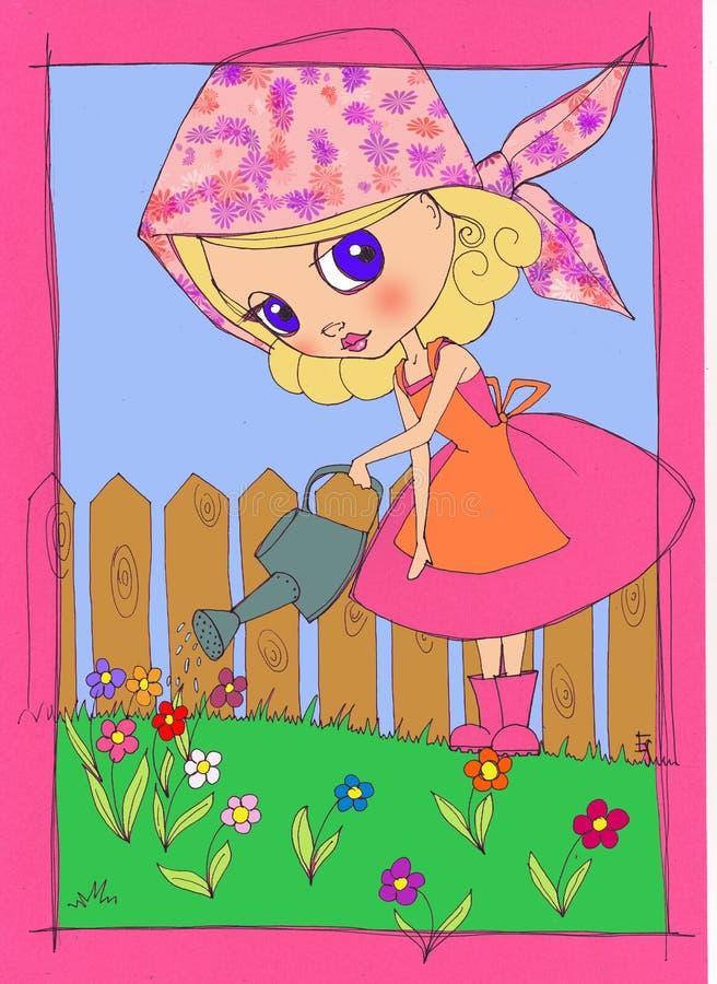 Lovely garden vector illustration