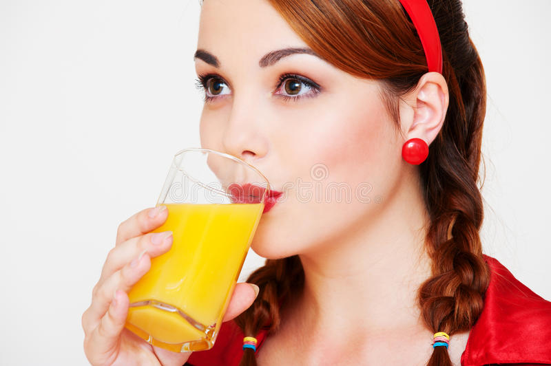 Download Lovely Girl With Glass Of Orange Juice Stock Image - Image of natural, face: 16278101