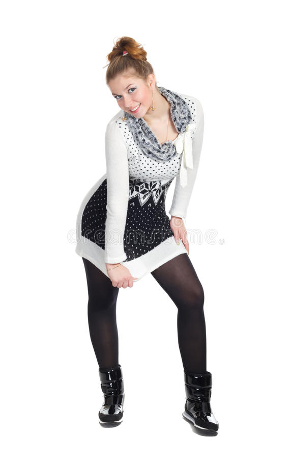 Download Lovely Girl In A Tunic Posing Stock Photo - Image: 17808806