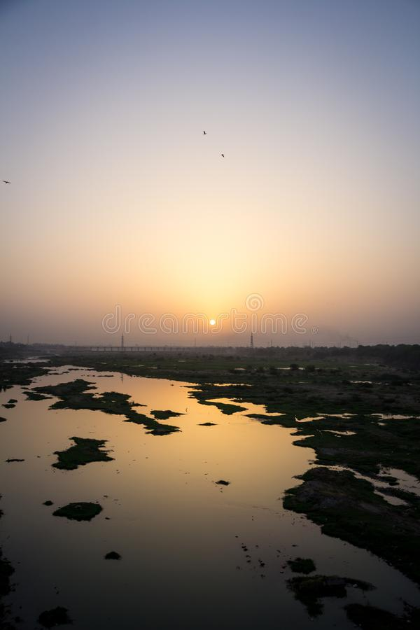 Lovely golden sunrise mood shodhow stock photography