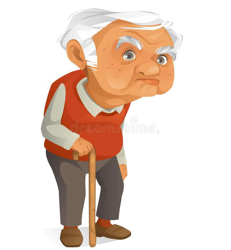 Cute Grandpa royalty free illustration
