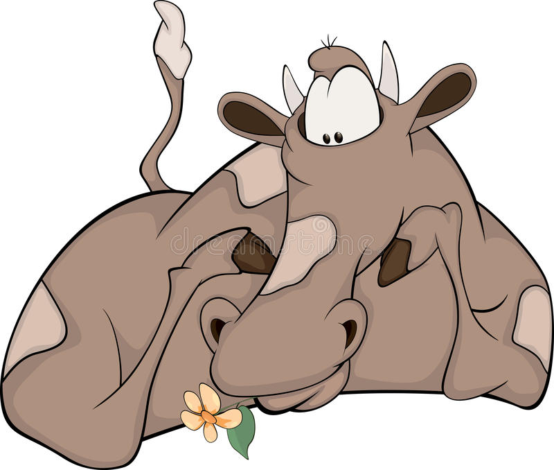 Lovely Happy Cow Stock Photography