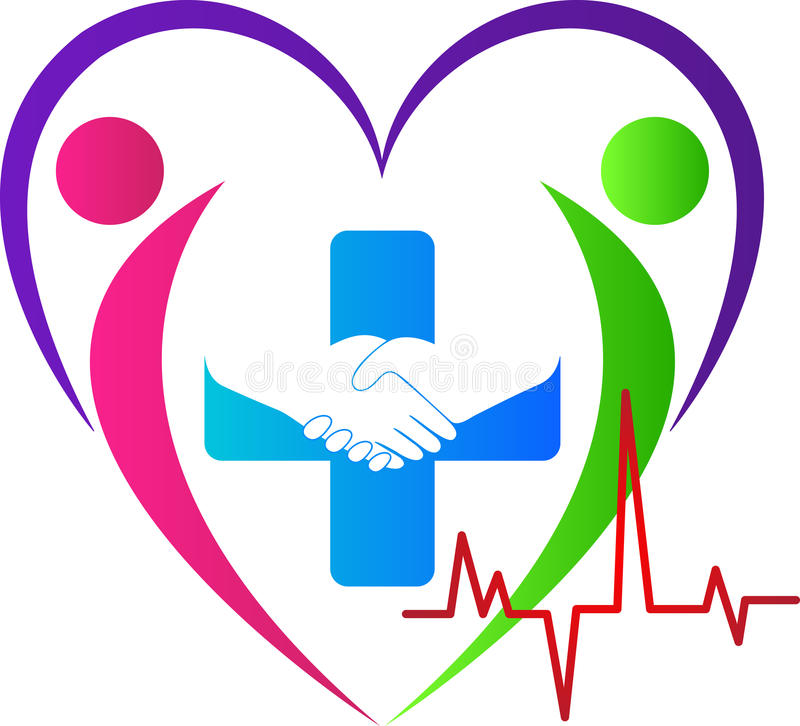 Lovely heart care. A vector drawing represents lovely heart care design