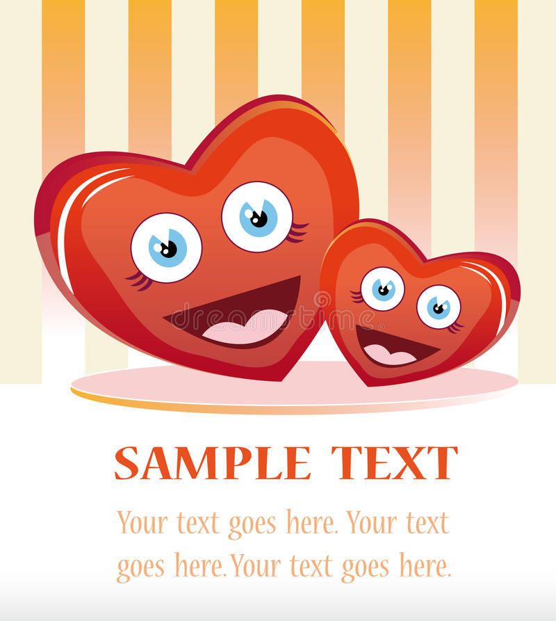 Lovely hearts stock illustration