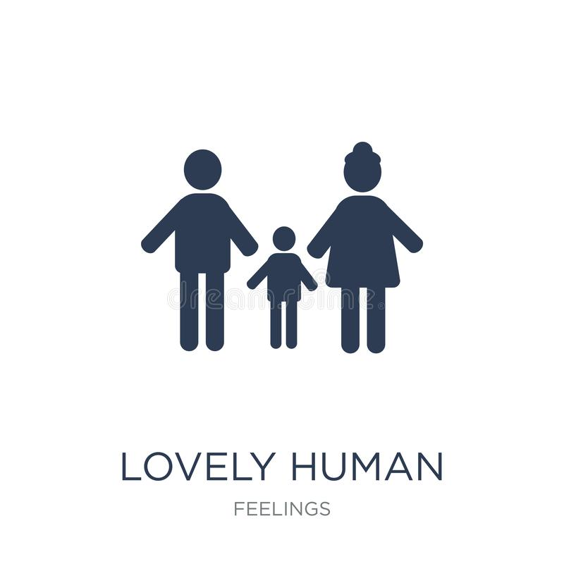 lovely human icon. Trendy flat vector lovely human icon on white royalty free illustration