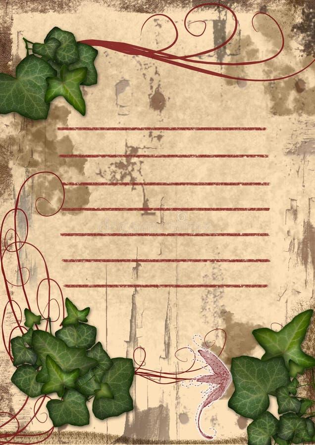 Download Lovely  Ivy And Branch Frame Stock Illustration - Image: 13150259