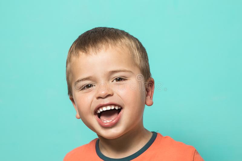 Lovely little boy smiling royalty free stock photography