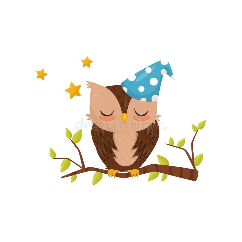 Cute Blue Bird On Branch Stock Illustration Illustration