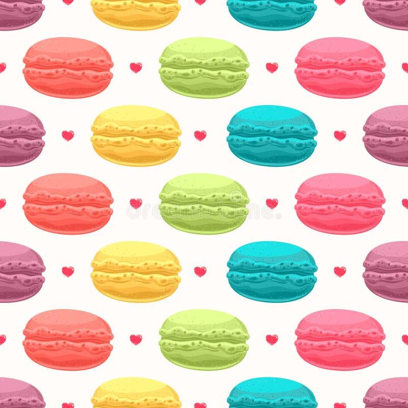 Lovely macaroons stock illustration