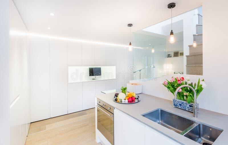 Lovely modern kitchen stock photos