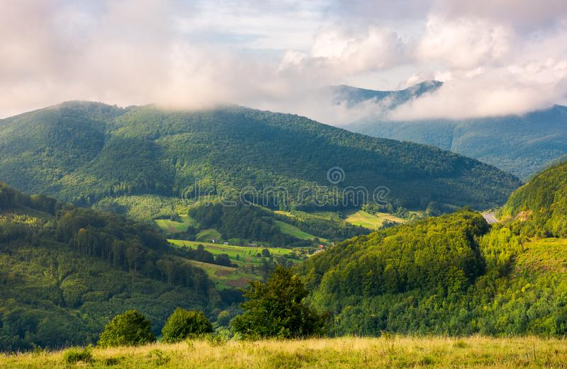 Lovely mountainous countryside in autumn royalty free stock images