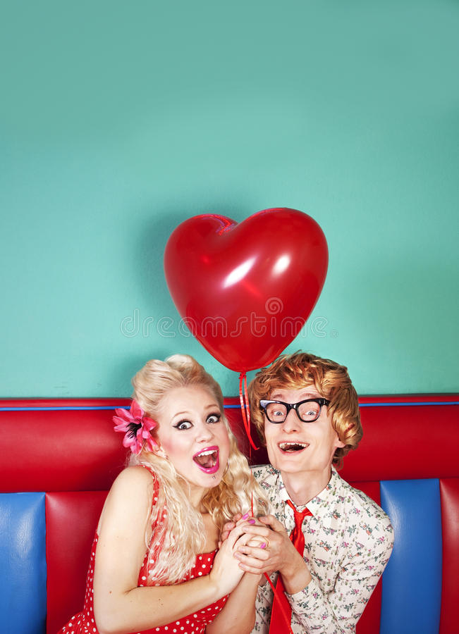 Lovely nerds stock photo
