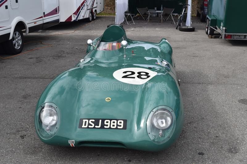 Lovely Old Classic Lotus Race car royalty free stock photo
