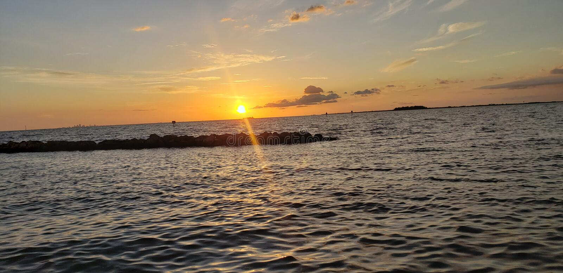 Lovely orange sunset royalty free stock image