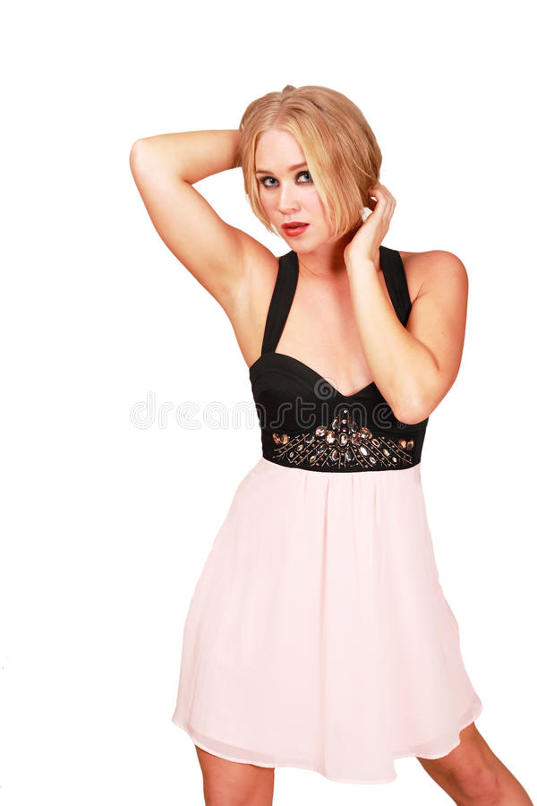 Lovely prom girl. Pretty girl in prom dress looking lovely stock photos