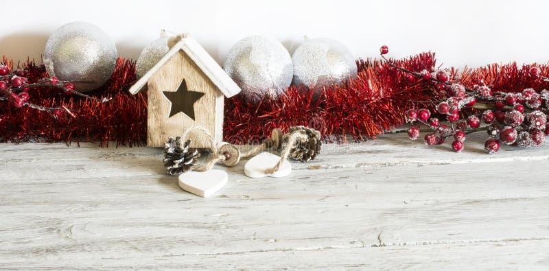 Lovely red Christmas decor stock photo