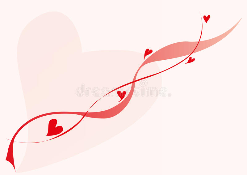 Download Lovely Red Hearts And Lines Stock Vector - Image: 18106747