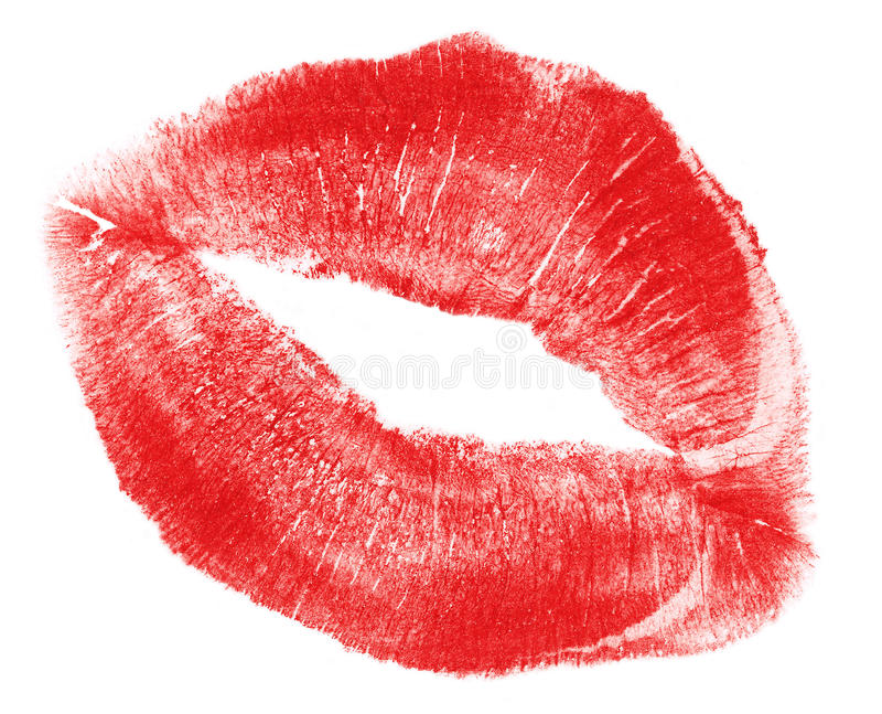 Lovely red woman lips, XXL file size stock photo
